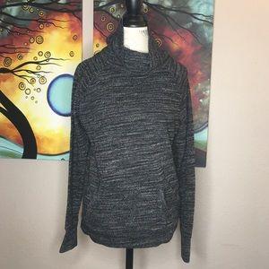 Gapfit Medium Gray Long Sleeve Cowl Neck Sweater
